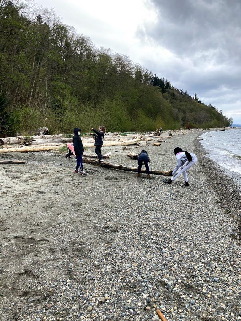 yeti kids on the beach